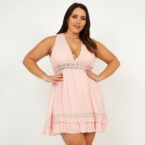 Showpo Simple as That Dress in Blush US Size 20